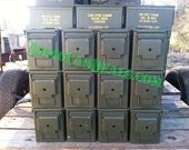 12 US GI Military Ammo Cans 50 Cal Size Geocaching boxs Waterproof Container