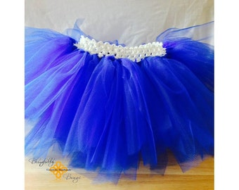 Royal Blue infant and little girl tutu