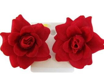 Rose flower Earrings Choose color