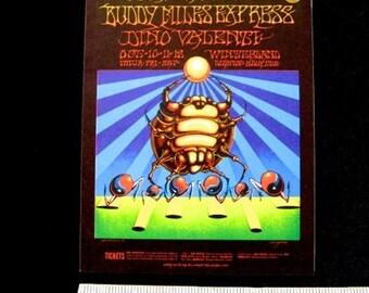 Jimi HENDRIX Winterland SF Original 1968 Concert Postcard Rick Griffin Psychedelic BG 140