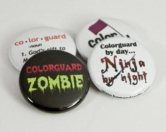 Colorguard Ninja plus Three Colorguard Buttons or Magnets - GRD 4