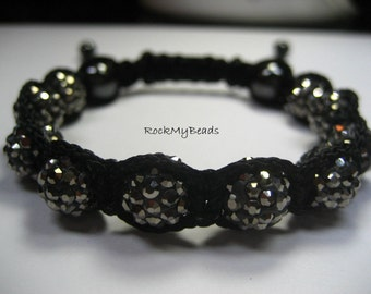 Shambala Swarovski Pave Crystal Bracelet - GRAY