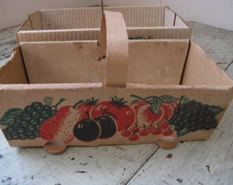 farm fruit baskets wood handle metal handle fruit graphics cardboard baskets rustic farmhouse country