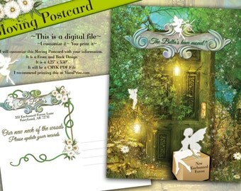 Moving Postcards, Moving Announcements, Fairy Postcards