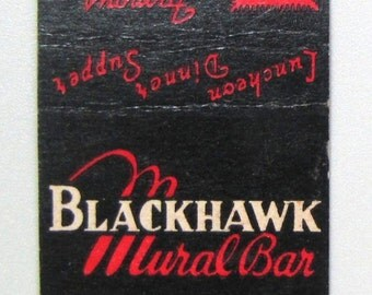 1940s Blackhawk Mural Bar Wabash Chicago Lion Match