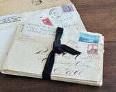BUNDLE of 20 vintage envelopes 1920s 1940s mixed media ephemera