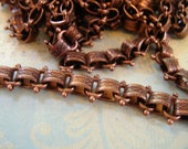 Repurpose Vintage Reproduction Book Chain Antique Copper plated Top Quality Design book chain