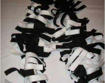 black and white fleece scarf