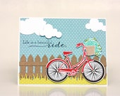 Life is a Beautiful Ride - Love - Handmade Card