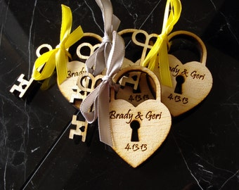 180 Heart and Skeleton Key Wedding Favors
