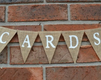 Cards Banner , Wedding Banner , Gift Cards Sign , Burlap Banner