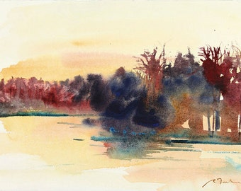New England Landcape No.172, limited edition of 50 fine art giclee prints from my original watercolor