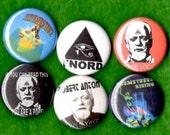 Robert Anton Wilson Pins Buttons Badges Illuminatus Occult Author Discordian