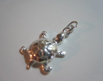 Sterling Silver Turtle Charm- 1 pc