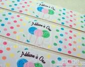 Lollipop Water Bottle Labels - 15 Personalized, Waterproof, & Adhesive Labels - sweet shoppe lollipop collection