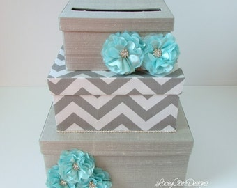 wedding card box bridal shower card box chevron card holder USD 107 00 ...