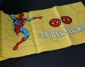 Vintage 1978 Amazing Spider-man Marvel Comic Book Superhero 96 by 52 Inch Children's Birthday Party Table Cover Tablecloth:1970's Spiderman