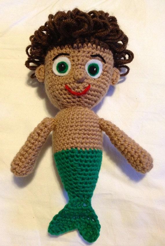 Amigurumi Mermaid Pattern : Mermaid Boy Crochet Pattern Amigurumi PDF