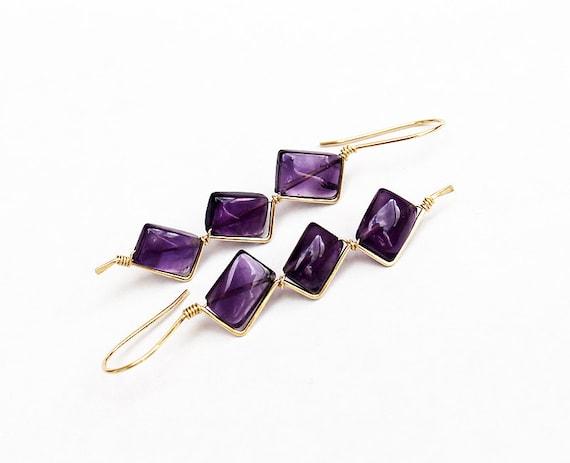 https://www.etsy.com/listing/181268760/amethyst-14k-gold-zigzag-earrings