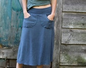 Perfect Pocket Skirt- Calf Length-Hemp/Organic Cotton
