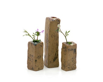 Mud Pile Vases - Greens
