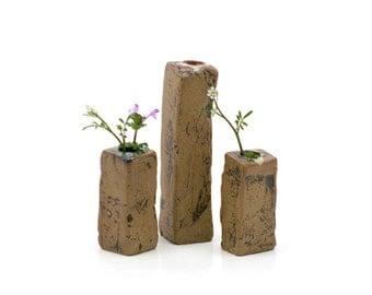 Mud Pile Vases - Greens