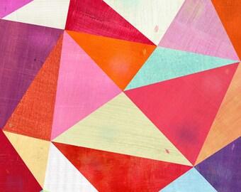 Pink Triangle, Canvas Art Print