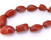 "Turriform Shape Red Jasper Nugget Random Charm Beads Charm 30mmx14mm jasper Gemstone Beads One strand 18""  red jasper stone One Strand"