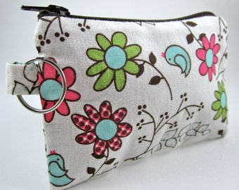 ID wallet keychain, ID holder, Coin Purse, Zippered Wallet, Card Holder