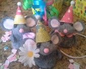 Birthday Mouse Finger Puppet Gift Party Favor