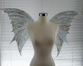 Crystal White Iridescent Fairy Wings- Adult Size (Made to Order by Request)
