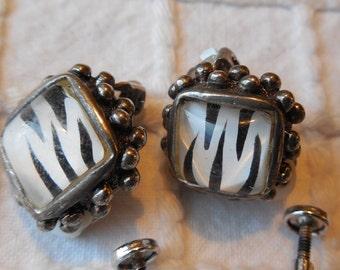 Lot of 5 pr Vintage Sterling Silver Clip & Screw On Earrings
