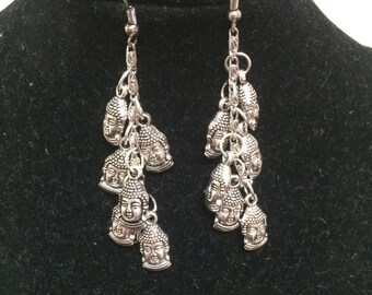 Tibetan Head Earrings