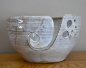 winter white yarn bowl - large