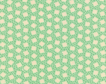30's Playtime - Wonky Squares in 30's Green by Chloe's Closet for Moda Fabrics