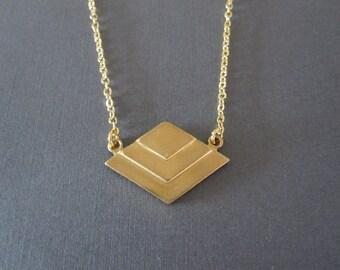 Geometric Chevron Necklace