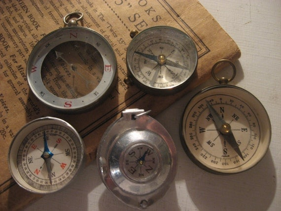 Held Compass Vintage Hand Held Compass And