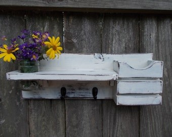 Mail Holder--Kitchen Decor--Wall Flower Holder--Wall Decor--Office Decor--Ready to Ship