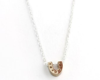 Horseshoe Necklace- Bronze