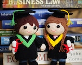 Amigurumi Graduation Dolls - Love Story Series