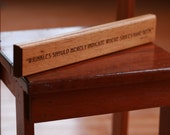Mark Twain Wrinkles Quote Engraved in Wood