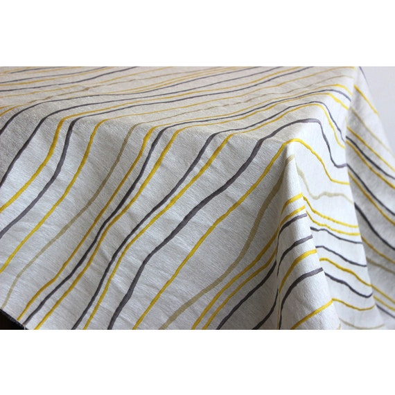 Yellow n grey stripes curtain fabric upholstery fabric curtain panels