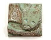Oh, Possum Tile 4x4 - Possum Art Tile Cute Pet Lover Rodent Mouse Tail Wall Decor Gift