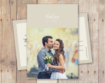 Wedding Thank You Postcard or Magnet - New Morning