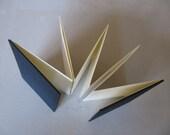 6x4 accordion photo album, journal - black linen