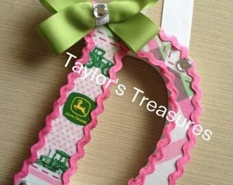Taylors Treasures John Deere Girl Or Boy Nursery Letters