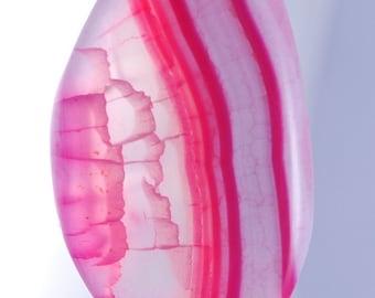 Pink Agate pendant bead CA141835