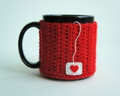 Cup of Love Mug Cozy in Ranch Red