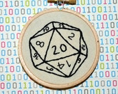 "d20 - 3"" Embroidery Button For Your House"