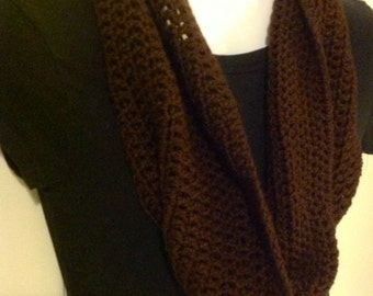 Brown chocolate latte Infinity scarf cowl wrap